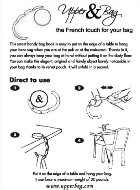 instructions hanger bag f